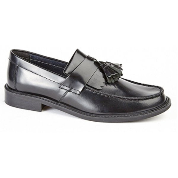 Roamers Black Tassle Loafers