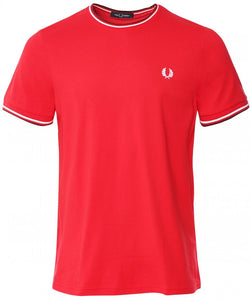 Fred Perry Red Twin Tipped T-shirt
