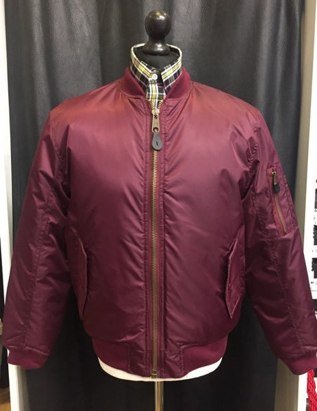 Burgundy MA1 Flight Bomber Jacket