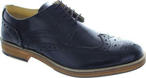 Roamers Black Brogues
