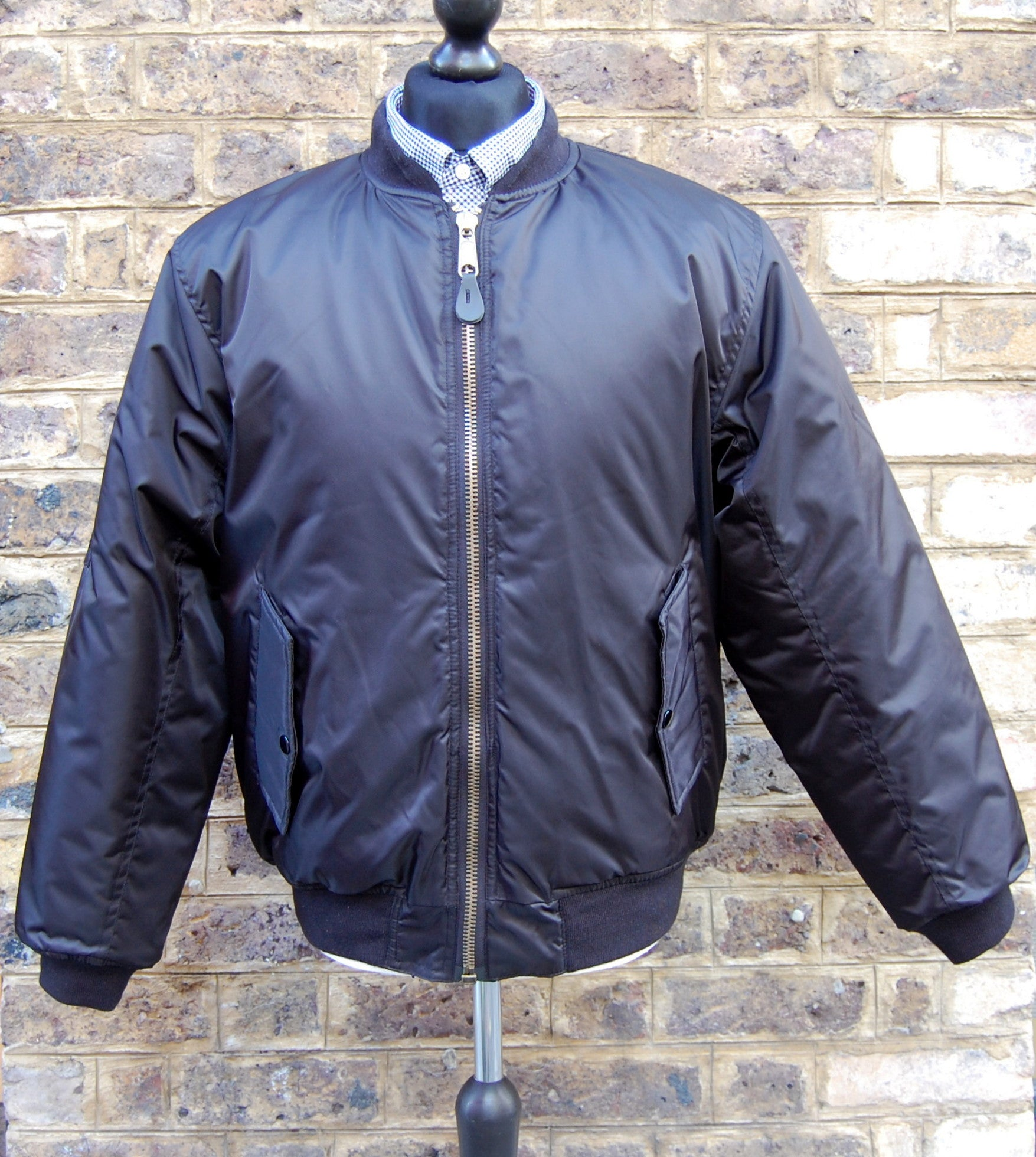 Black MA1 Flight Bomber Jacket