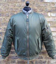 Load image into Gallery viewer, Olive MA1 Flight Bomber Jacket