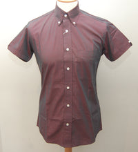 Load image into Gallery viewer, Relco Burgundy Tonic Short Sleeve Shirt
