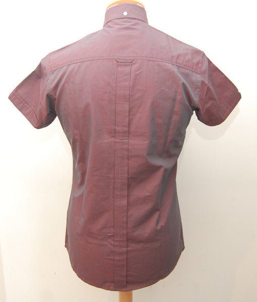 Relco Burgundy Tonic Short Sleeve Shirt