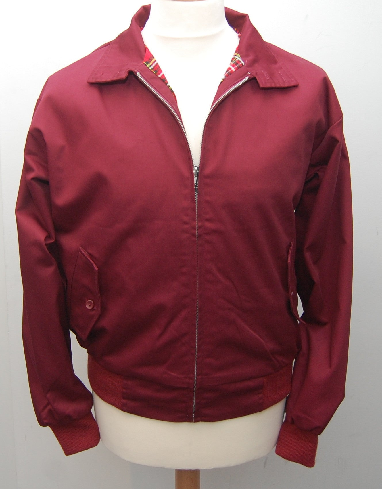 Relco Burgundy Harrington Jacket