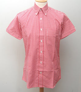 Relco Red Gingham Short Sleeve Shirt