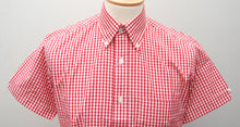 Load image into Gallery viewer, Relco Red Gingham Short Sleeve Shirt