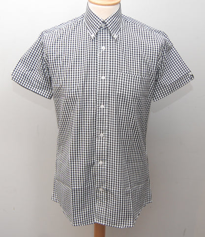 Relco Black Gingham Short Sleeve Shirt