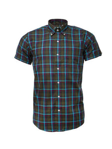 Relco Limited Edition Green Check Short Sleeve Shirt