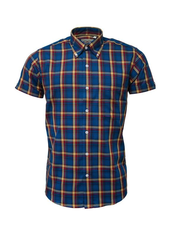 Relco Limited Edition Blue Check Short Sleeve Shirt
