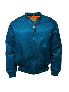 Petrol Blue MA1 Flight Bomber Jacket