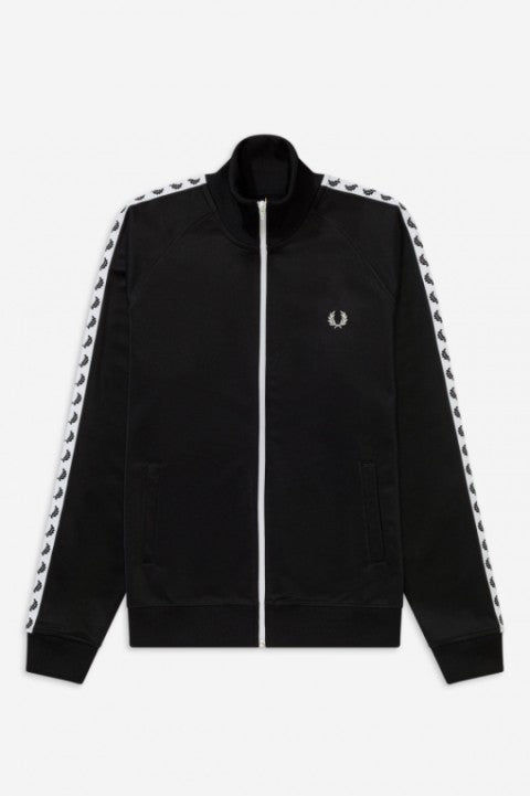 Fred Perry Black Taped Track Jacket