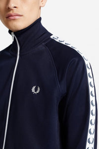 Fred Perry Navy Taped Track Jacket
