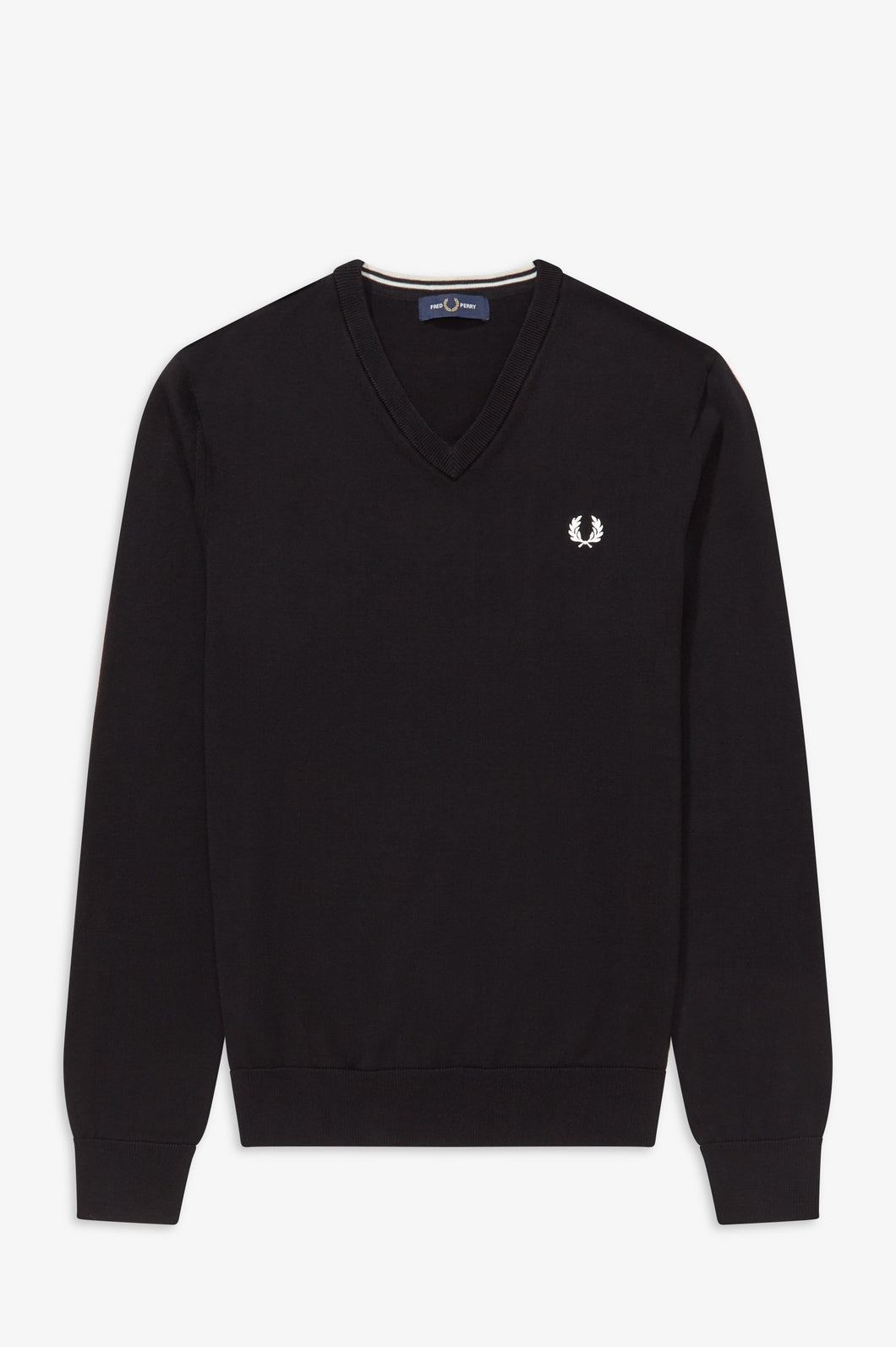 Fred Perry Black V Neck Jumper