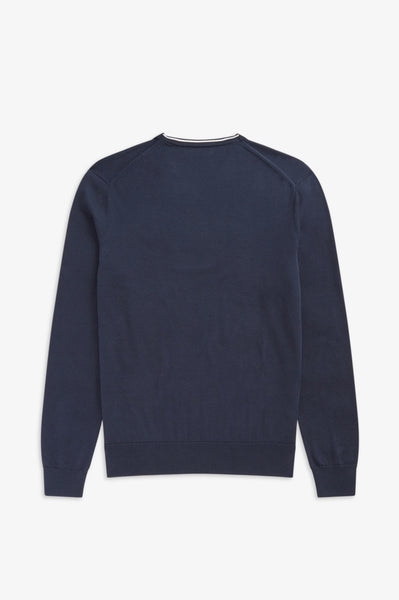 Fred Perry Navy V Neck Jumper