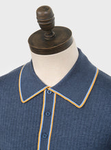 Load image into Gallery viewer, Art Gallery Clothing Isley Mid Blue Knitted Polo