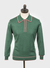 Load image into Gallery viewer, Art Gallery Clothing Isley Isle Green Knitted Polo