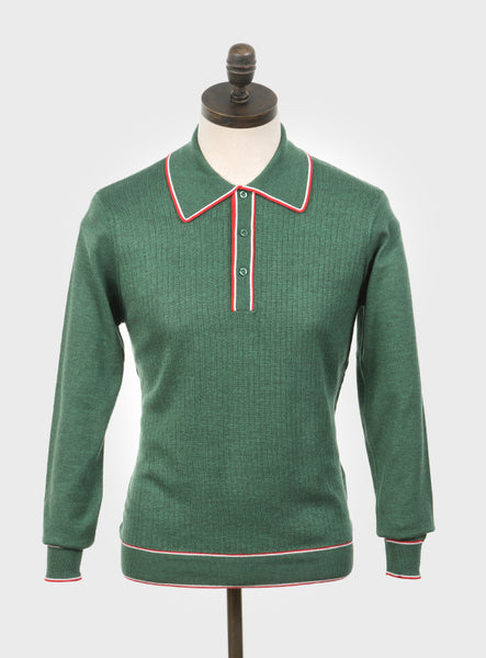Art Gallery Clothing Isley Isle Green Knitted Polo