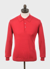 Load image into Gallery viewer, Art Gallery Clothing Mason Red Knitted Polo