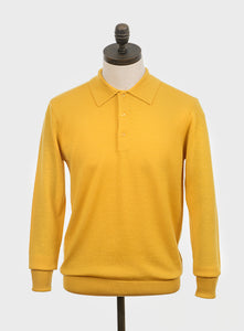 Art Gallery Clothing Mason Mustard Knitted Polo