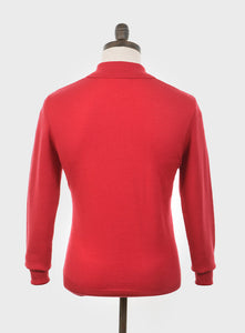 Art Gallery Clothing Mason Red Knitted Polo