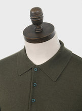 Load image into Gallery viewer, Art Gallery Clothing Mason Isle Green Knitted Polo