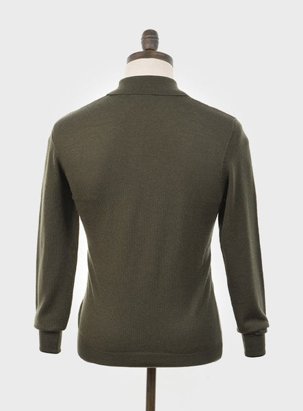 Art Gallery Clothing Mason Isle Green Knitted Polo