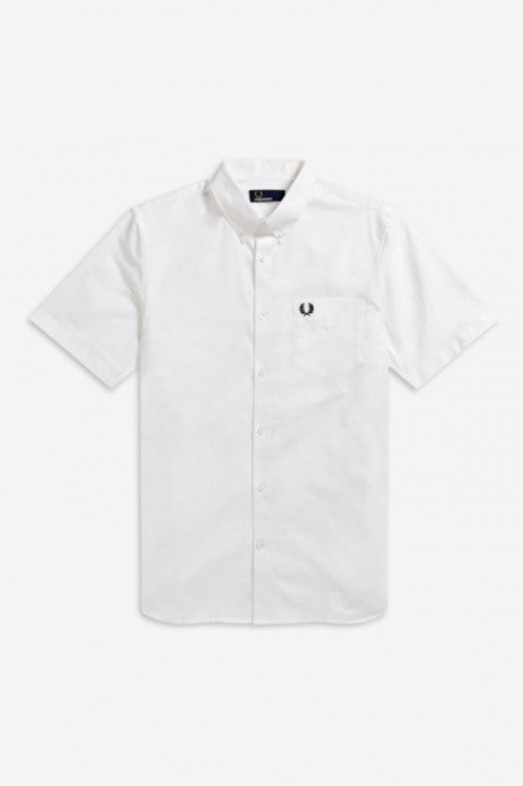 Fred Perry White Short Sleeve Oxford Shirt