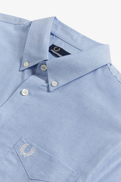 Fred Perry Light Smoke Short Sleeve Oxford Shirt