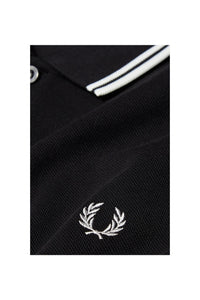 Fred Perry Black Polo with White Twin Tipping
