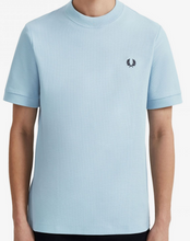 Load image into Gallery viewer, Fred perry ice blue pique t-shirt