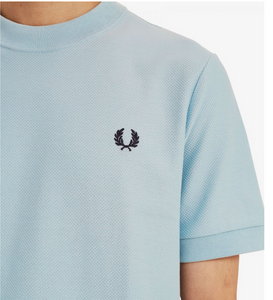 Fred perry ice blue pique t-shirt