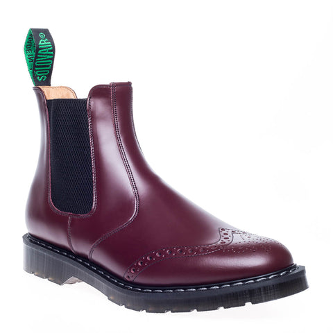 Solovair Oxblood Punched Dealer Boot