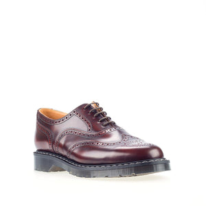 Solovair Burgundy English Brogue Shoe