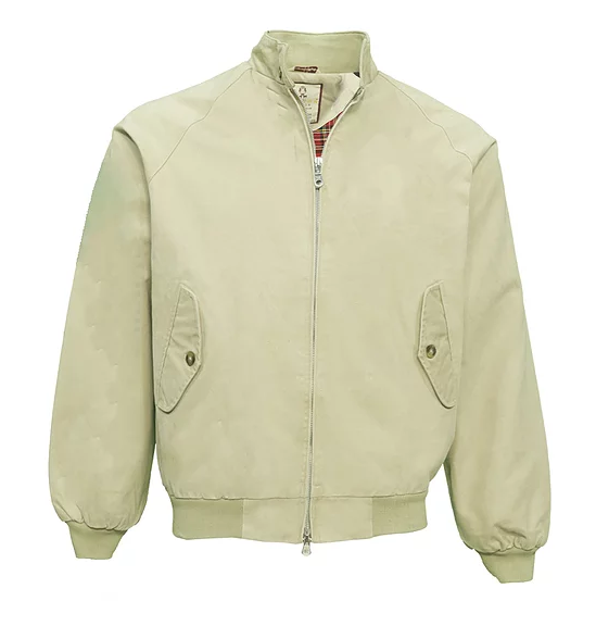 Real Hoxton Beige Harrington Jacket