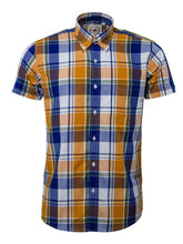 Load image into Gallery viewer, Relco Yellow Check Short Sleeve Shirt