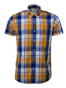 Relco Yellow Check Short Sleeve Shirt