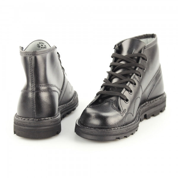 Grafters Black Leather Monkey Boots