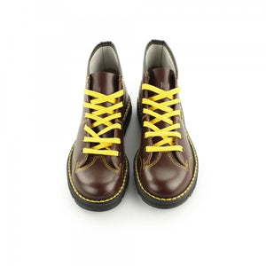 Grafters Wine Leather Monkey Boots