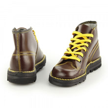 Load image into Gallery viewer, Grafters Wine Leather Monkey Boots
