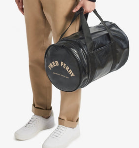 Fred Perry Black & Gold Barrel Bag