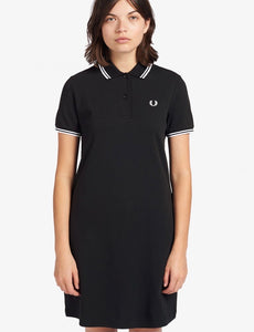 Fred Perry Ladies Black Twin Tipped Dress