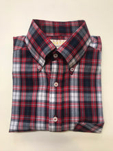 Load image into Gallery viewer, Real Hoxton Red Check Short Sleeve Shirt