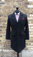 Load image into Gallery viewer, Relco Black Crombie Overcoat