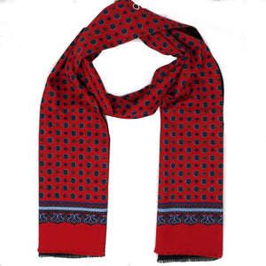 Warrior Classic Red Patterned Scarf