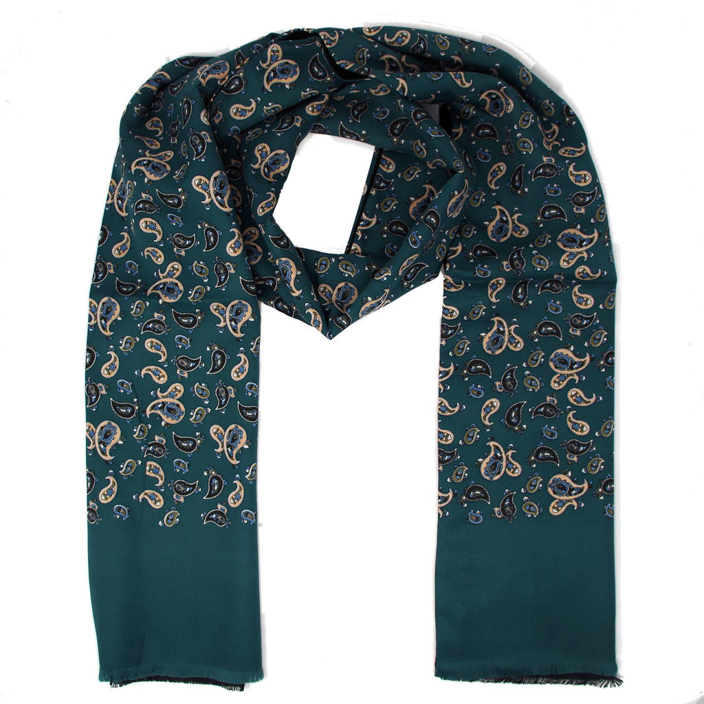Warrior Classic Green Paisley Scarf