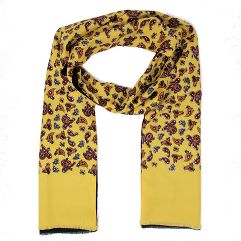 Warrior Classic Yellow Paisley Scarf