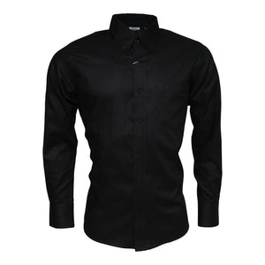 Relco Black Oxford Long Sleeve Shirt