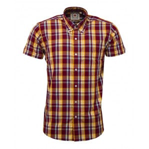 relco burgundy short sleeve shirt