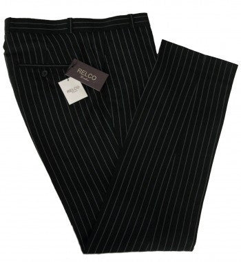 Relco Black Pinstripe Trousers